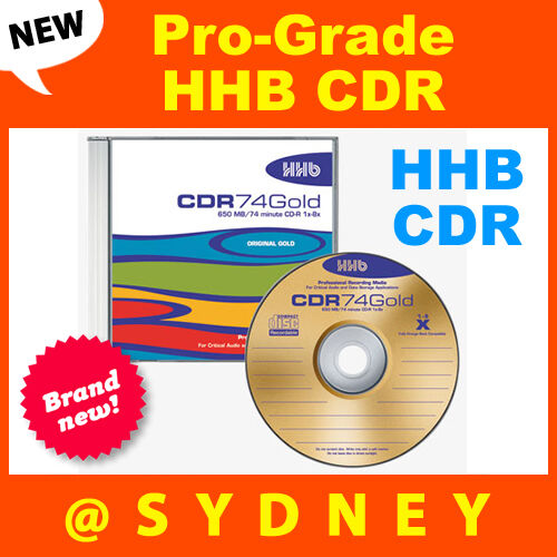 Hhhb: NEW HHB CDR-74 Gold Pro-Grade 650MB/74 Min Recordable