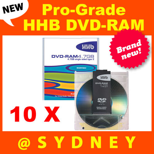 Hhhb: 10 X NEW HHB DVD-RAM4.7GB Pro-Grade Recordable Rewritable