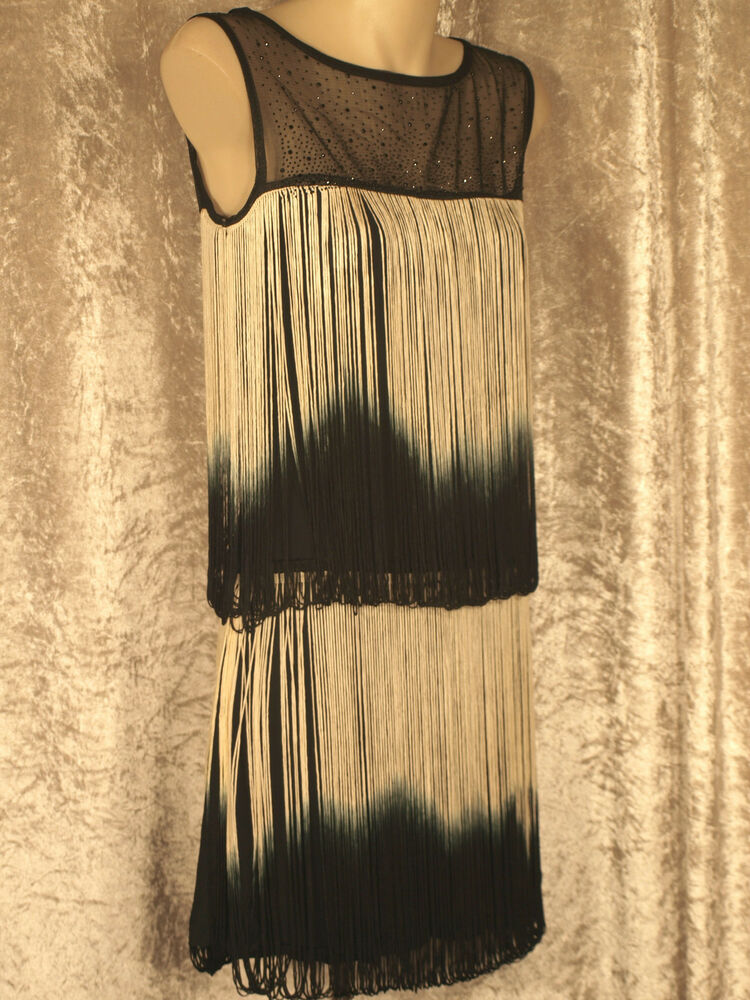 1920 Great Gatsby Style Flapper Party Dress Colour Looped ...