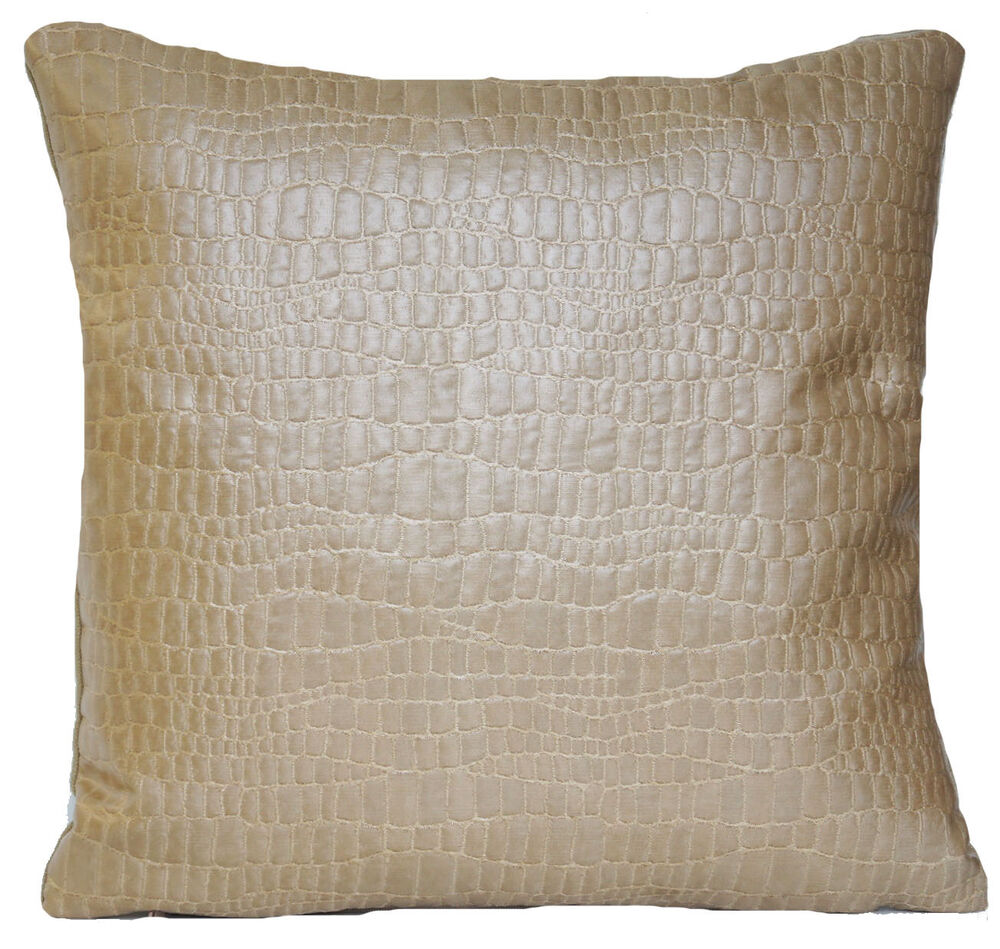 Beige gold cushion cover osborne and little woven fabric for Beige and gold pillows