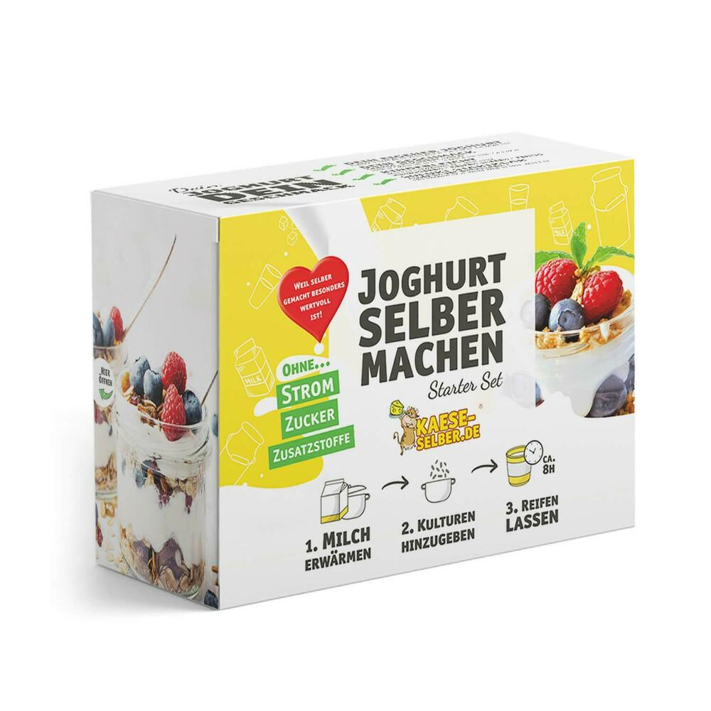 joghurt selber machen starter set ohne strom joghurtbereiter joghurtbox ebay. Black Bedroom Furniture Sets. Home Design Ideas