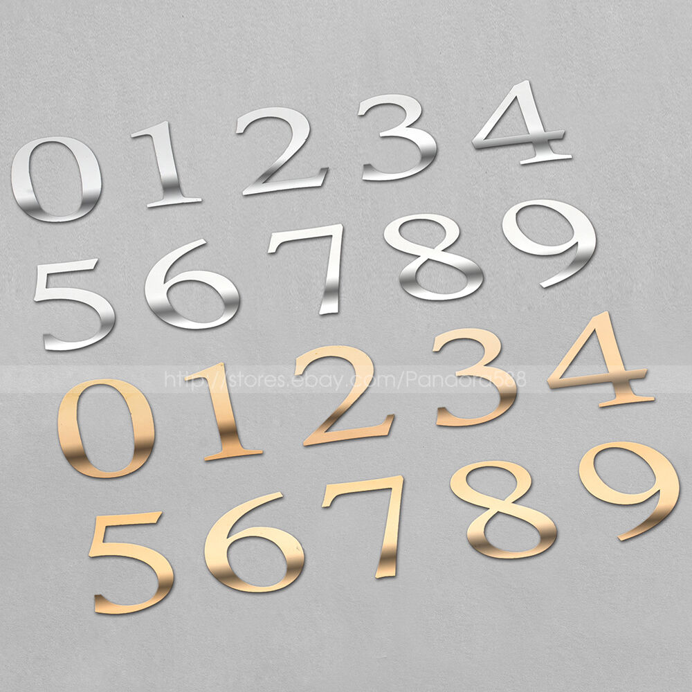 2 gold silver number stickers for table number cards for Table numbers