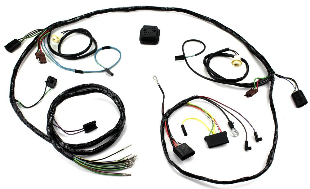 mustang head light wiring harness with tach 1969