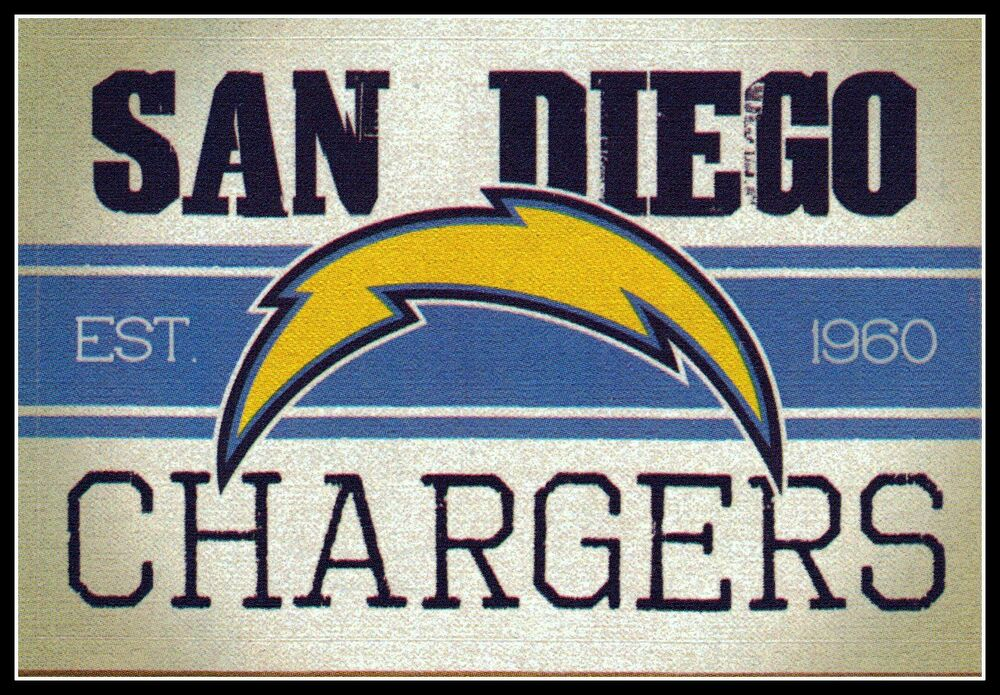 San Diego Chargers Football Nfl Licensed Vintage Team Logo