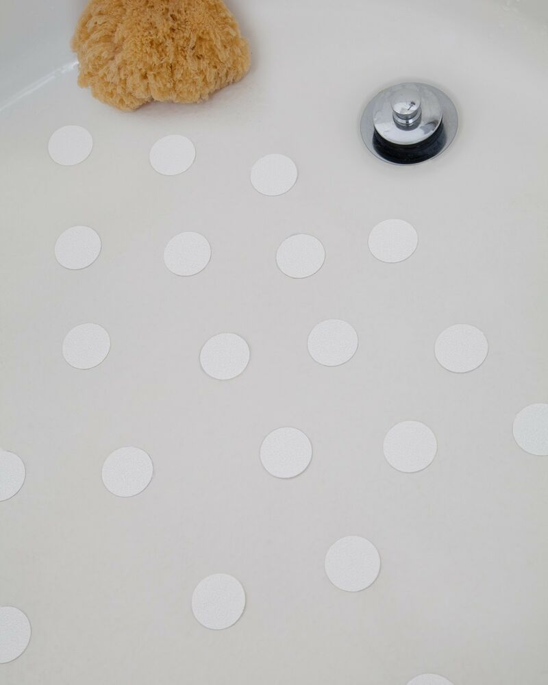 bath tub anti slip discs non skid adhesive shower stickers appliques treads ebay. Black Bedroom Furniture Sets. Home Design Ideas