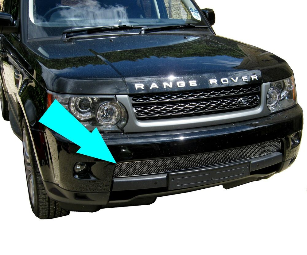 chrome front bumper mesh grille for range rover sport 2010. Black Bedroom Furniture Sets. Home Design Ideas
