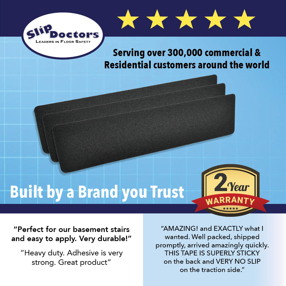 Non Slip Stair Treads Black Safety Anti Skid Tape High