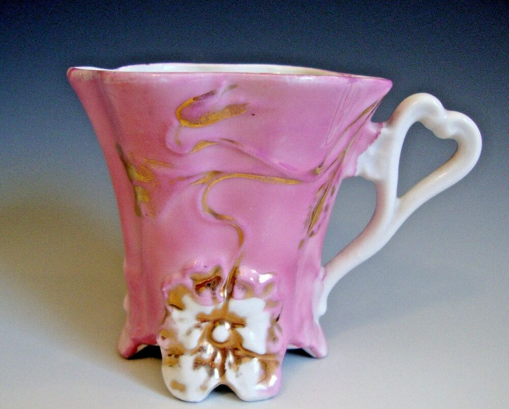 Lovely Decorative Footed Coffee Cup W Heart Shaped Hanlde