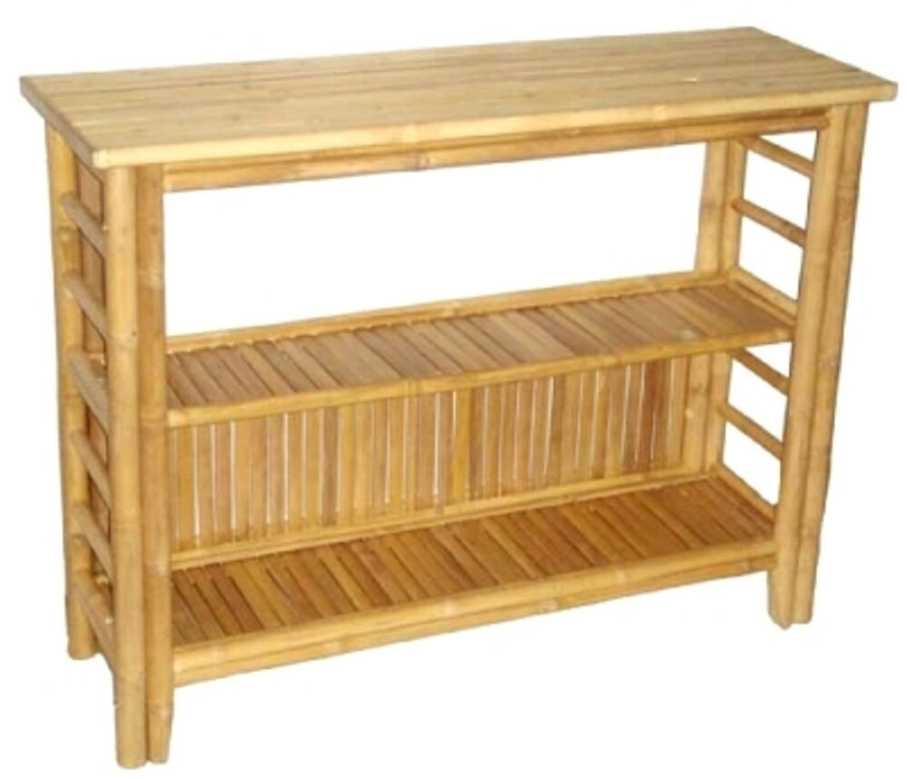 Bamboo buffet console sofa side table beautifully crafted for Sofa side table