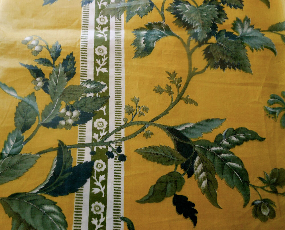Antique 1850 french or english floral chintz fabric for Chintz fabric