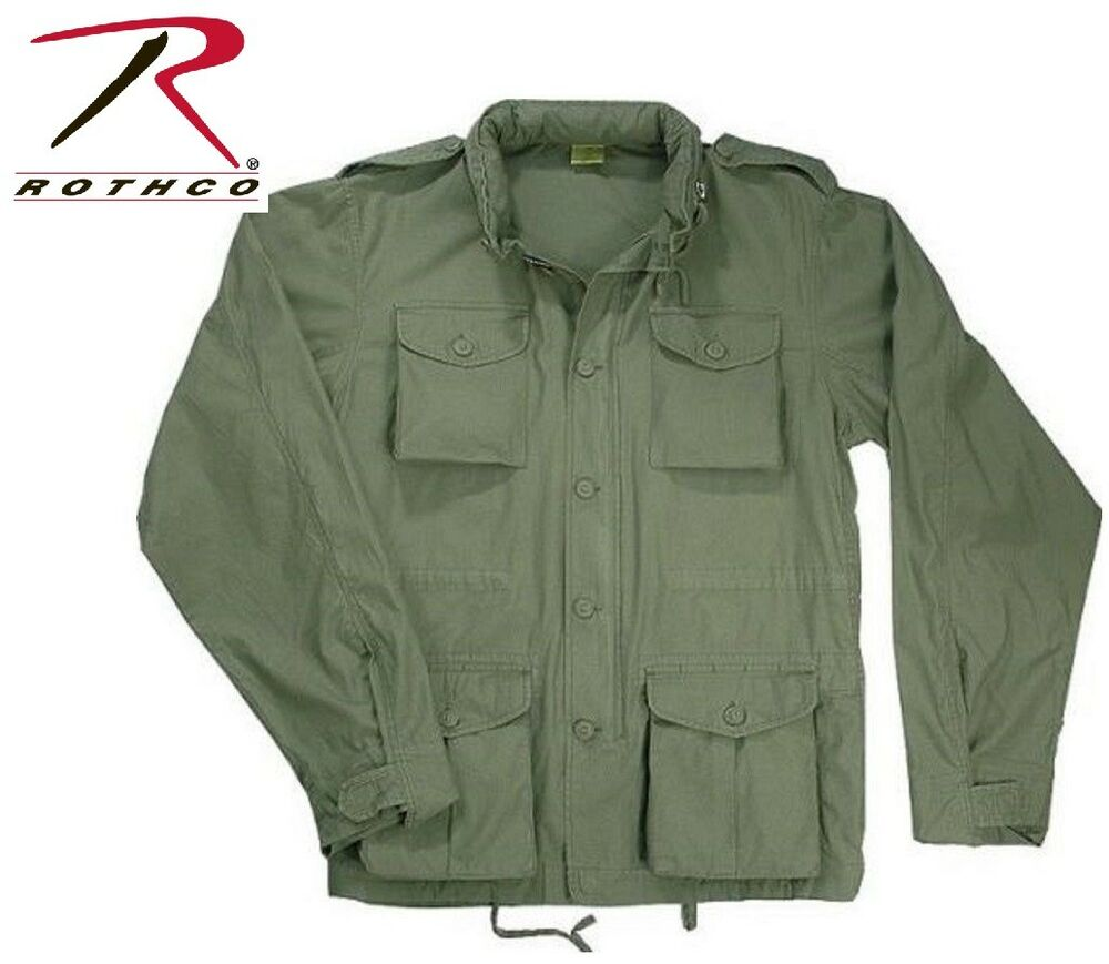 Od Green Vintage Lightweight Military M 65 Field Jacket