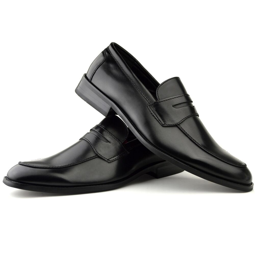 mens fashion new black leather shoes formal smart dress uk