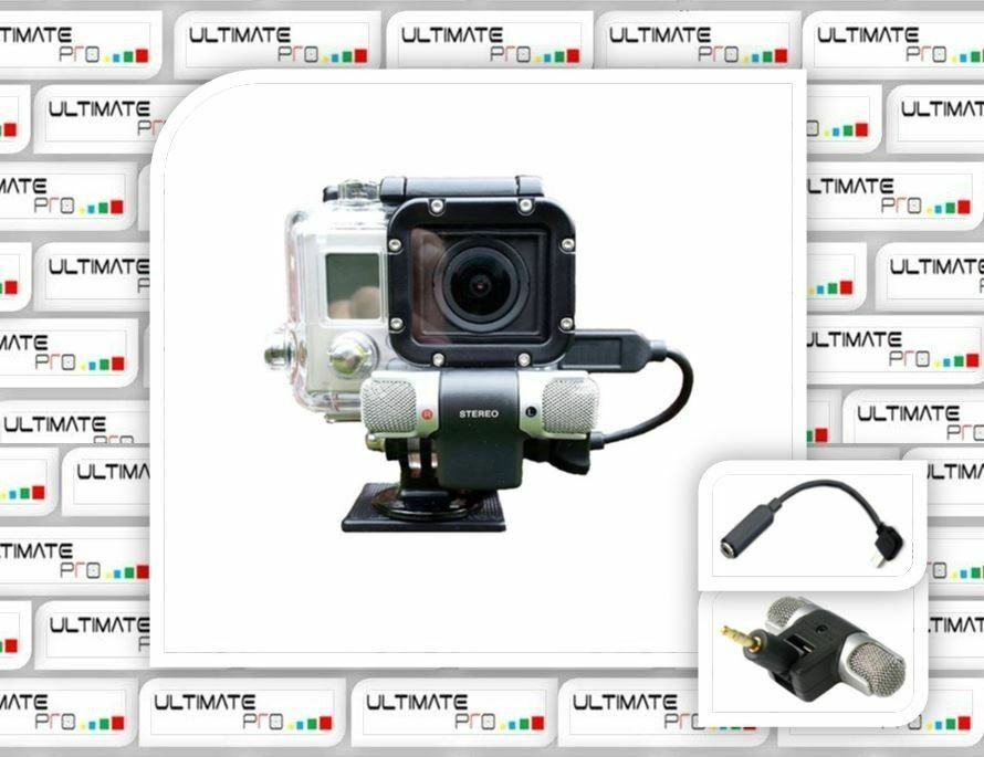 skeleton microphone for gopro hero 3 plus white edition housing accessory part ebay. Black Bedroom Furniture Sets. Home Design Ideas