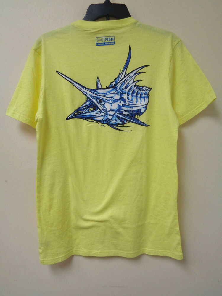 New under armour mens nightmare marlin 1246638 fishing for Under armor fishing shirt
