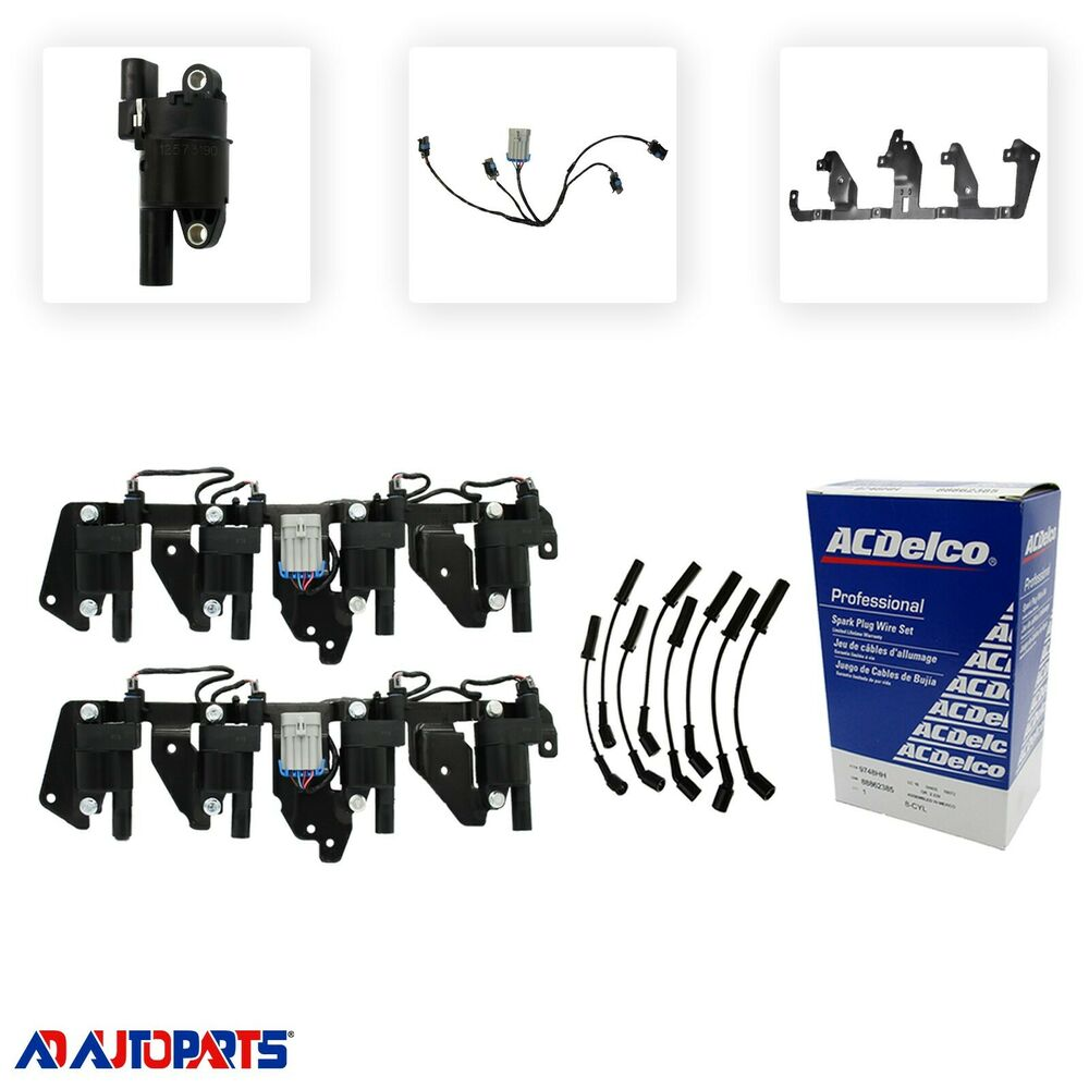 Ls1 Engine Transmission Package: OEM Ignition Coil Package Bracket Harness Coils & Sp Plug