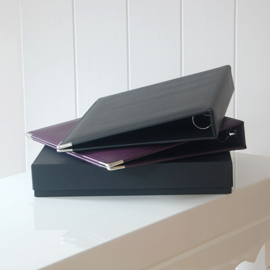 Black Leather A4 Ring Binder, Leather Ring Binder, A4