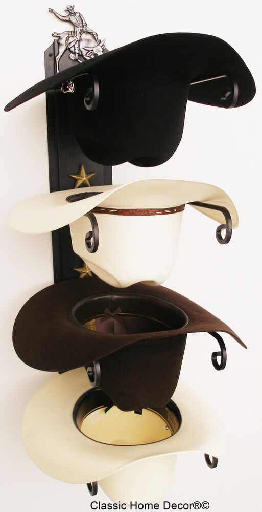 I Need Ideas For Decorating My Living Room: American Made Cowboy Hat Rack With Stars Powder Coated