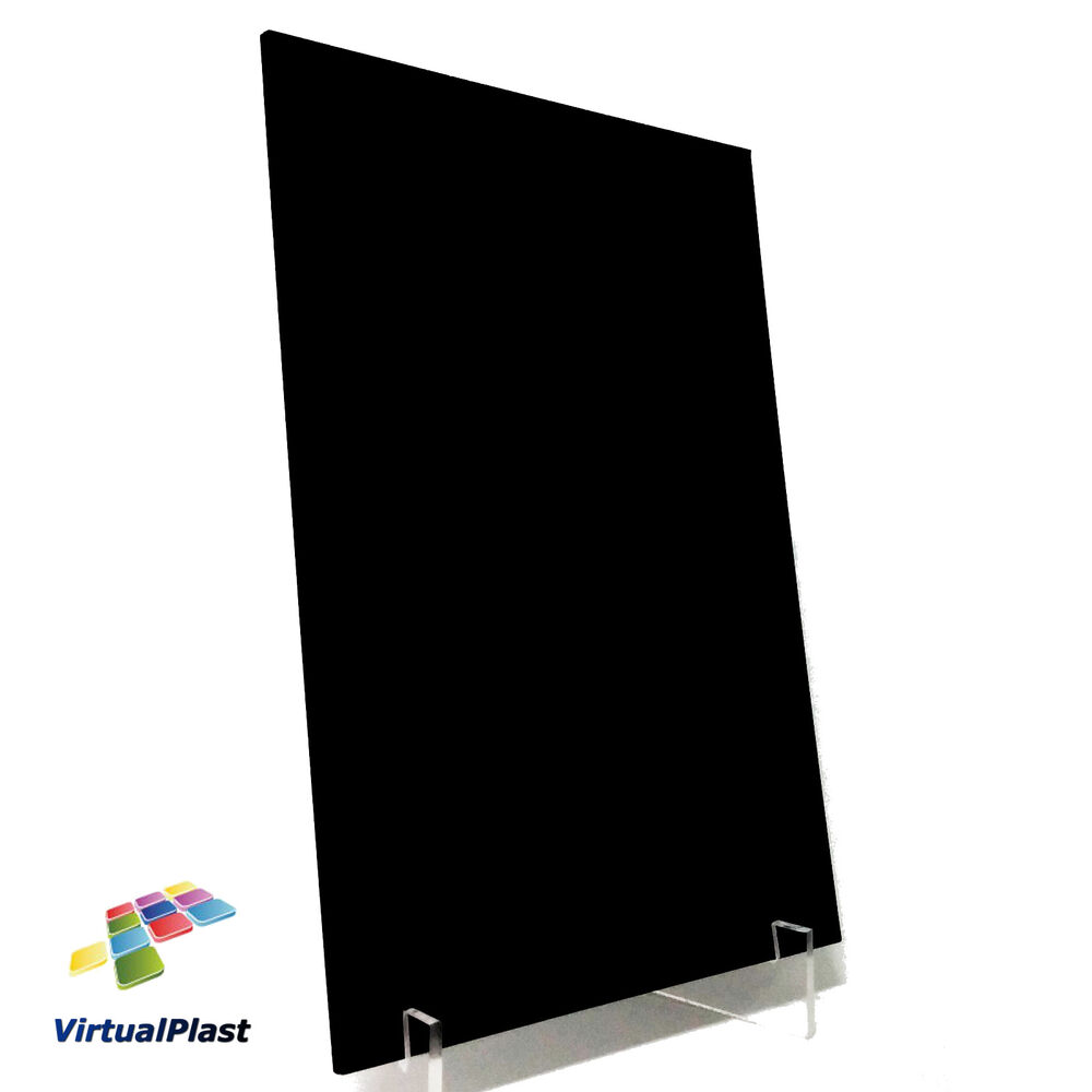 black plexiglass thick perspex acrylic plastic cut 5 9 x sheet ebay. Black Bedroom Furniture Sets. Home Design Ideas