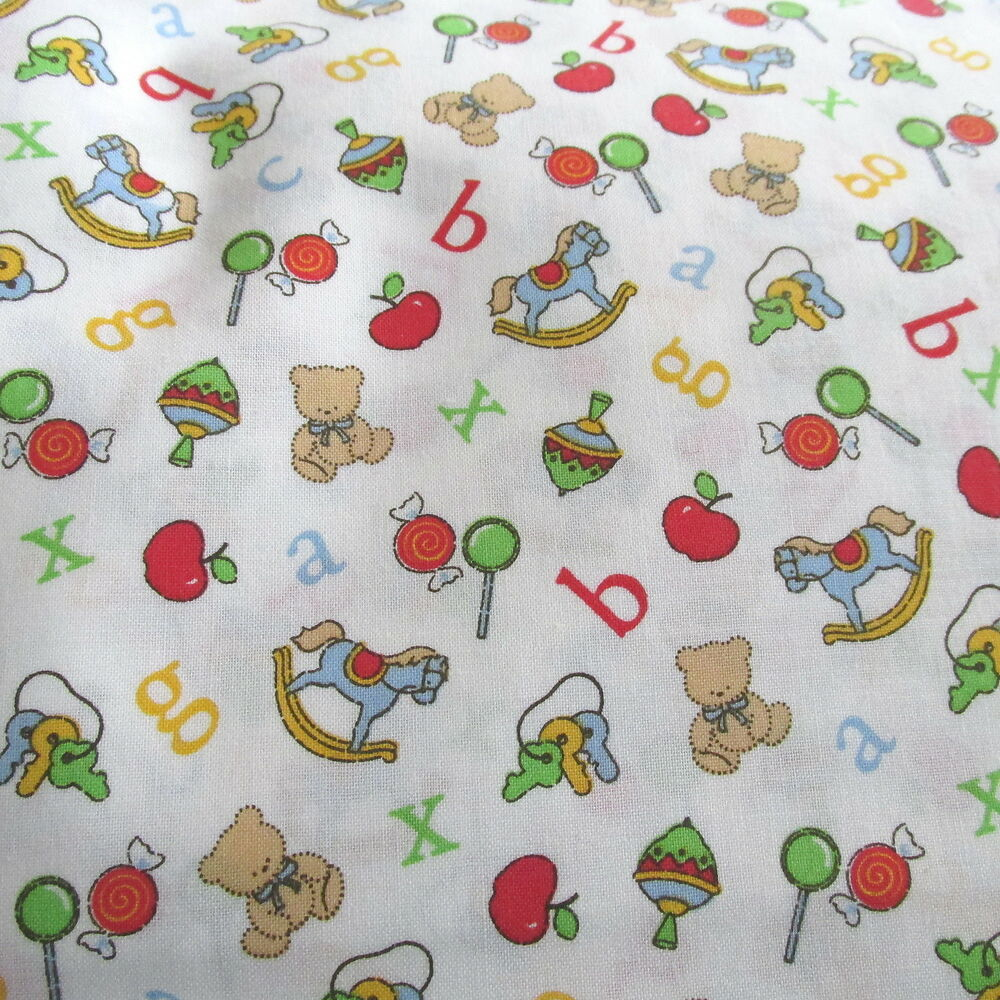 Joanns baby cotton fabric nursery alphabet letter toss for Nursery print fabric