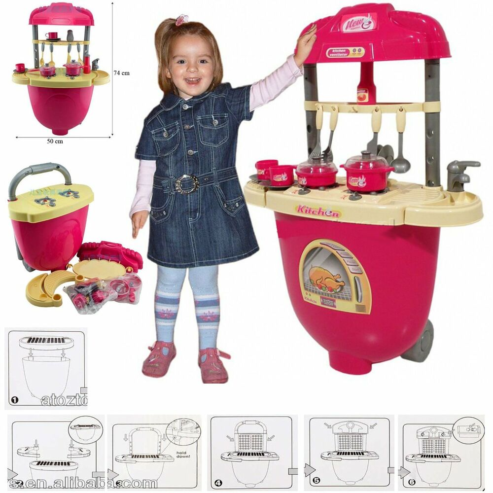 Kids children baby toy kitchen pretend play set cooking for Kitchen set for babies