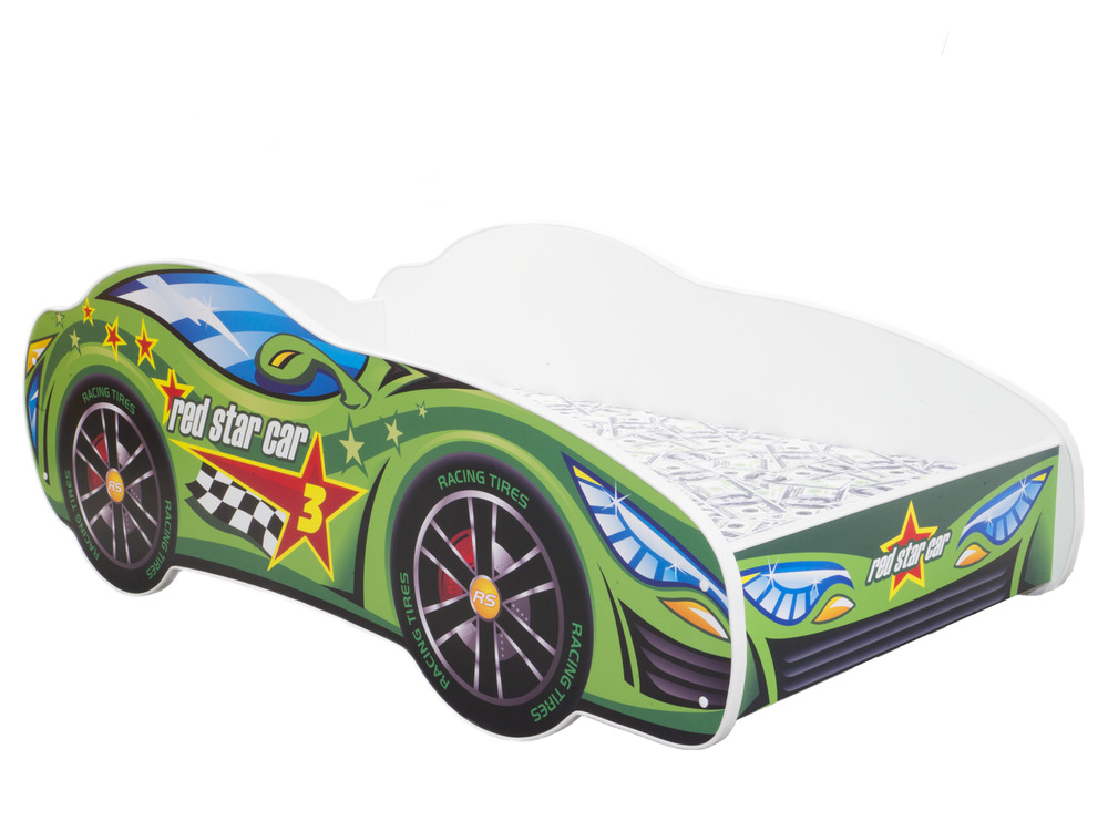 childrens bed toddler kids with mattress racing car bed shelf ebay