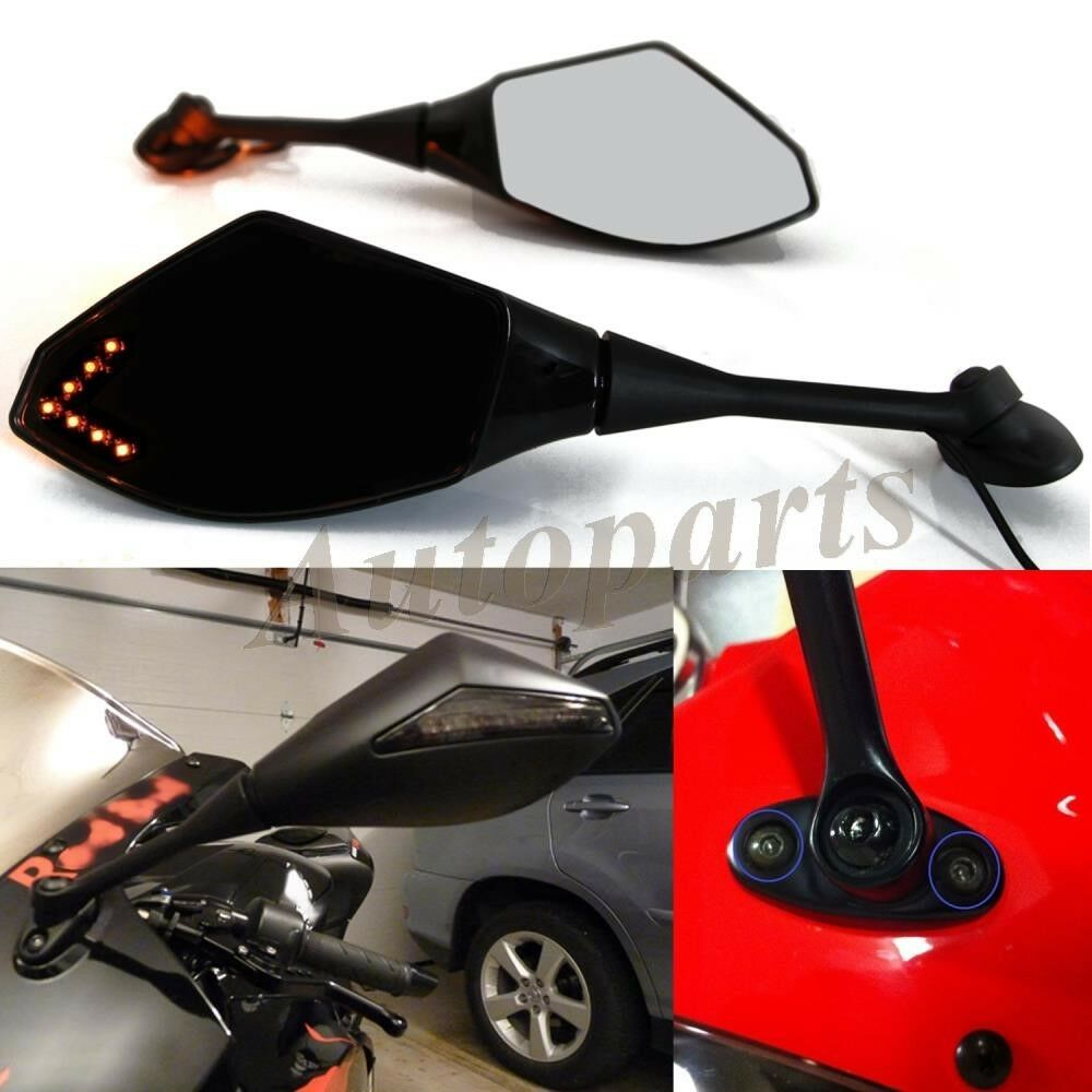 Intergrated Led Turn Signals Rearview Mirrors For Honda