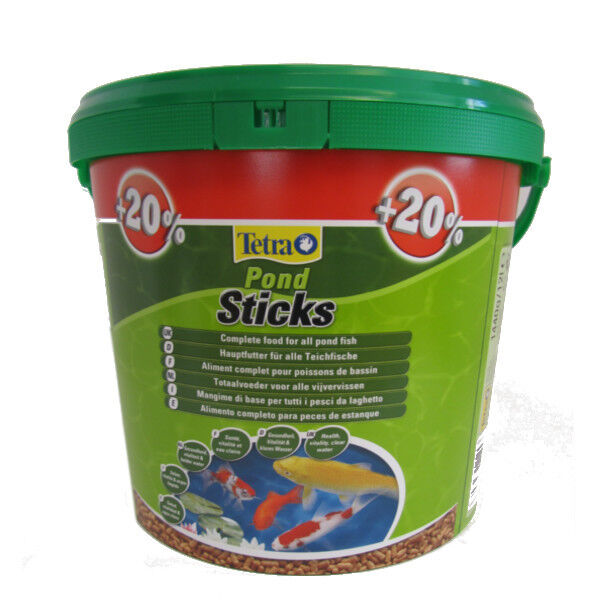 20 extra free 1200g 10 litre tetra pond sticks floating for Pond fish food