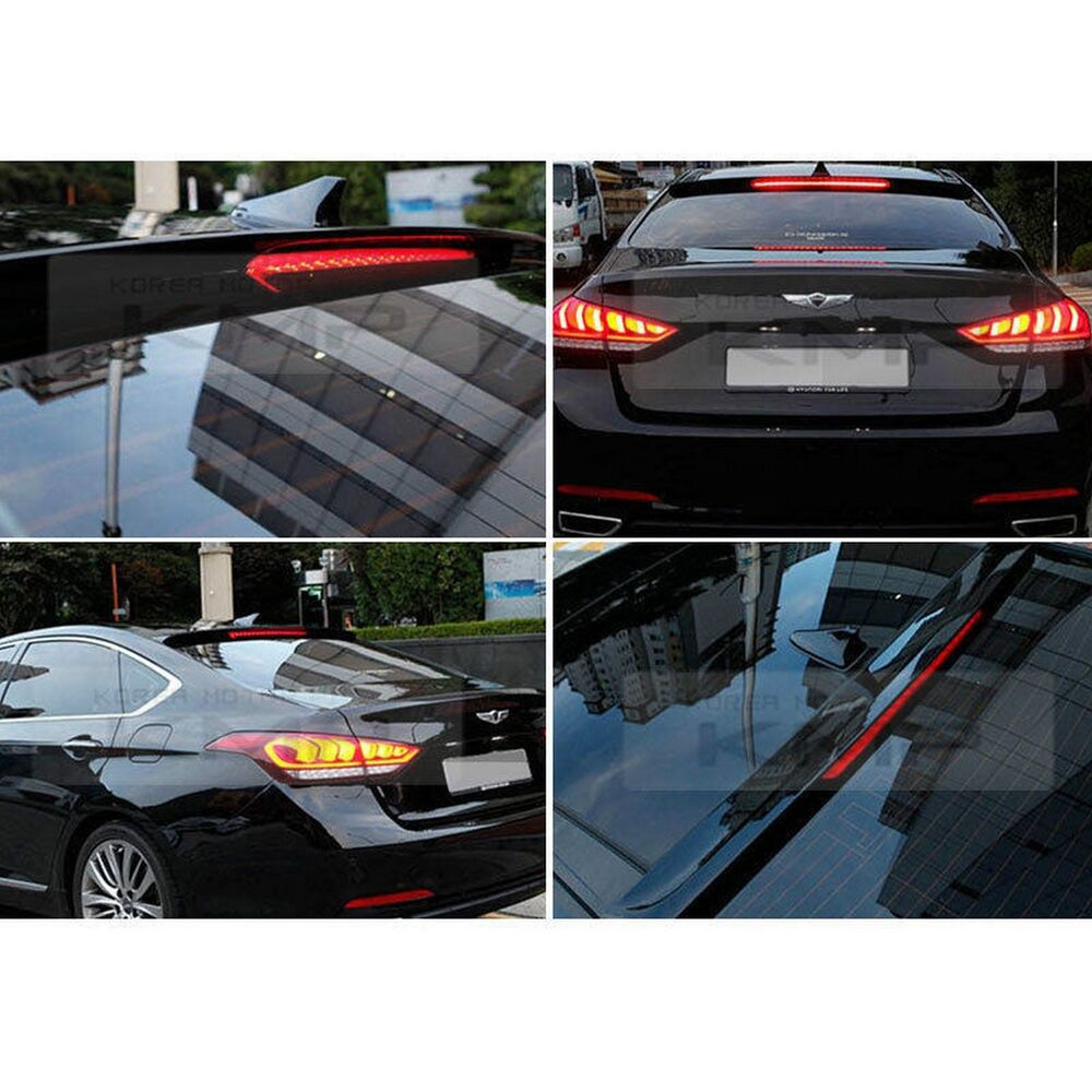 Rear Glass Roof Spoiler Black Painted For HYUNDAI 2014