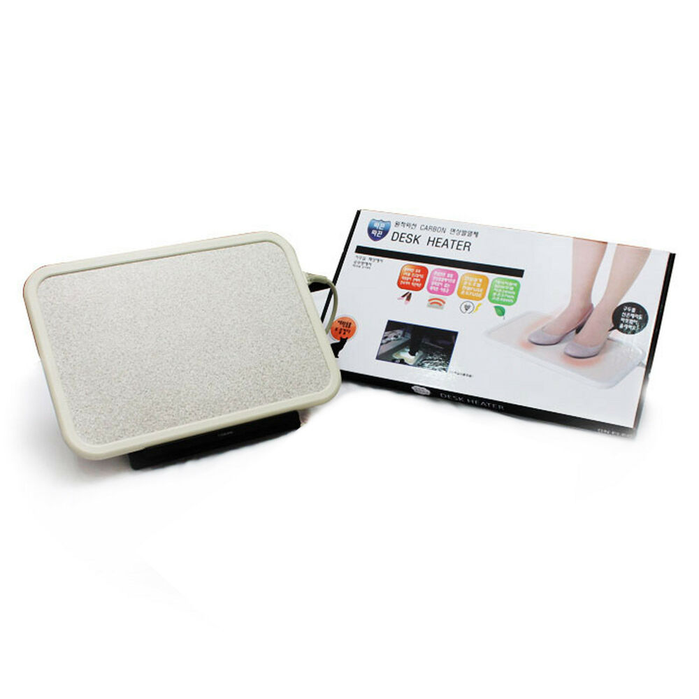 CARBON Portable Electric Foot Warmer Heater Timer PVC Mat