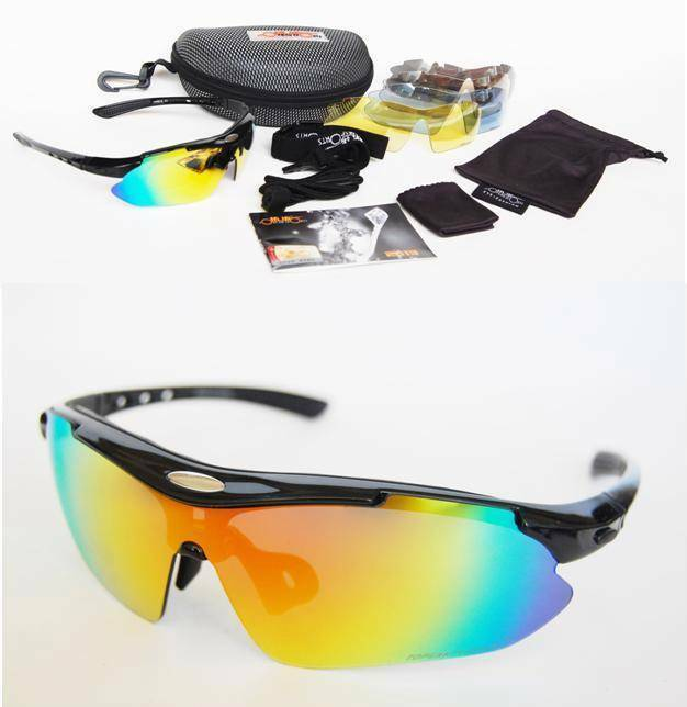 Sports Cycling Sunglasses 5 Interchangeable lenses ...
