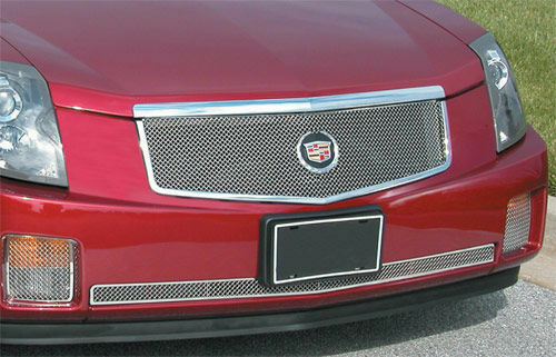 cadillac cts 2005 2006 2007 e g fine mesh grille 2 pc ebay. Black Bedroom Furniture Sets. Home Design Ideas