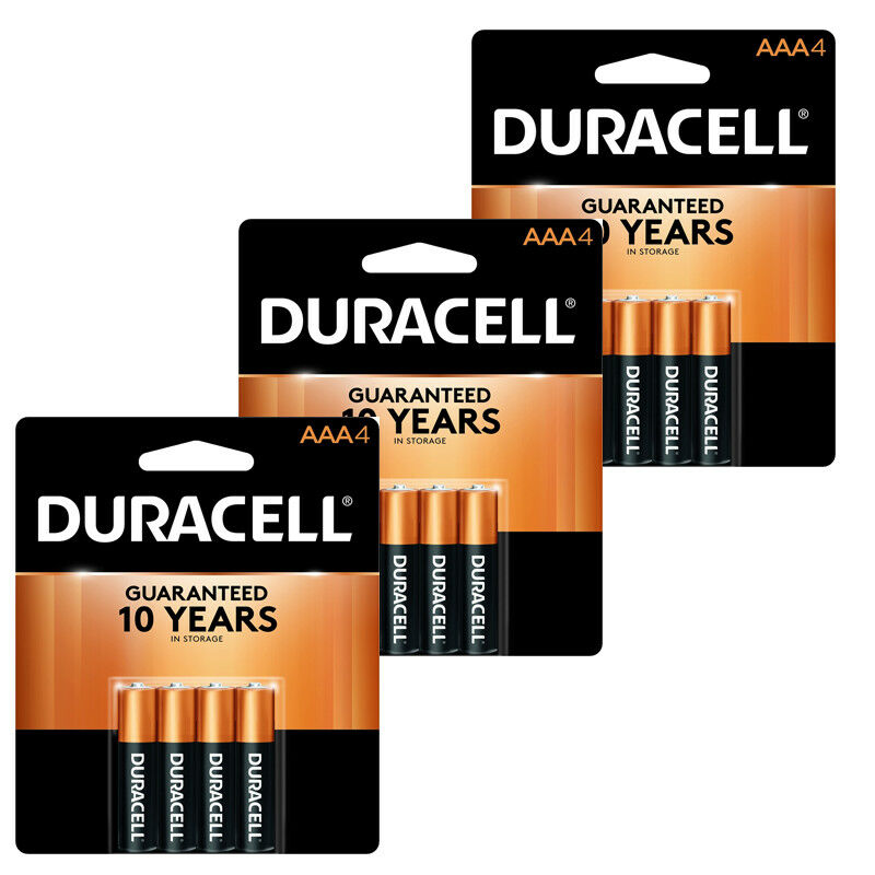 12 batteries duracell aaa 1 5v mn2400 alkaline batteries fresh ebay. Black Bedroom Furniture Sets. Home Design Ideas