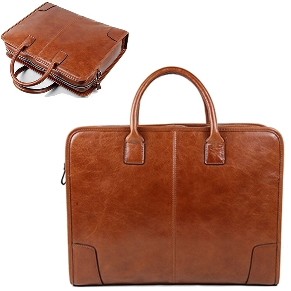 Man Briefcase Bag Man Business Bags Man Bags Natural Pattern Cow Leather BLE2986 | EBay