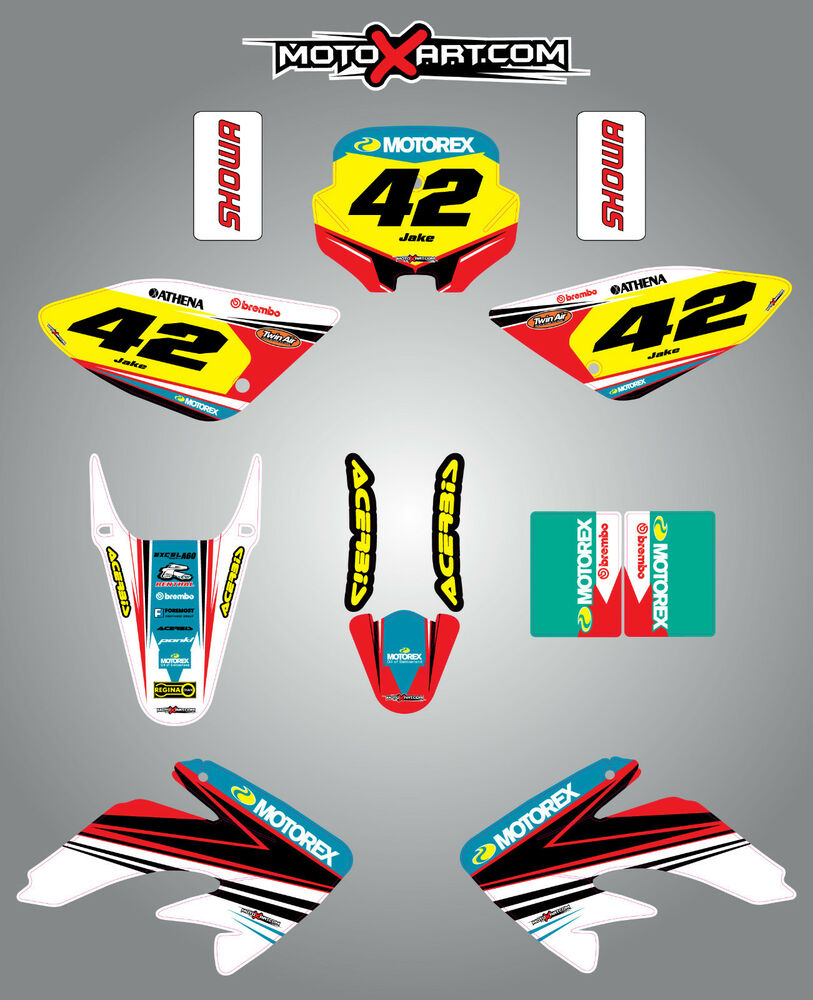 Details about full custom graphic kit honda crf 100 2002 2010 strike style stickers decals