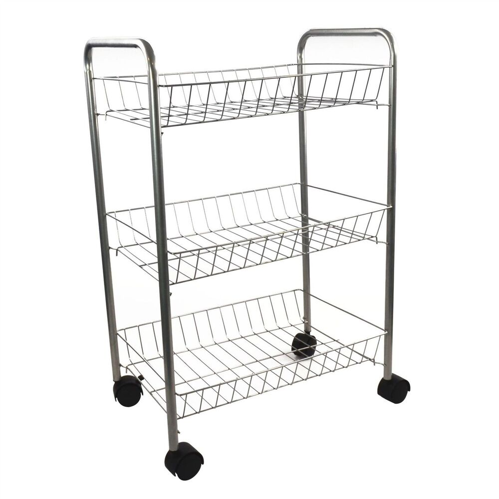 vegetable storage trolley kitchen 3 tier metal kitchen storage trolley vegetable fruit cart 6755