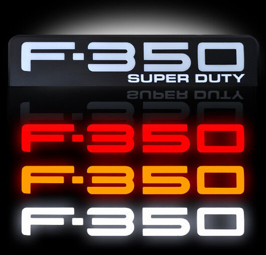 Ford Super Duty F350 Led Lighted Fender Emblems 2008 2009