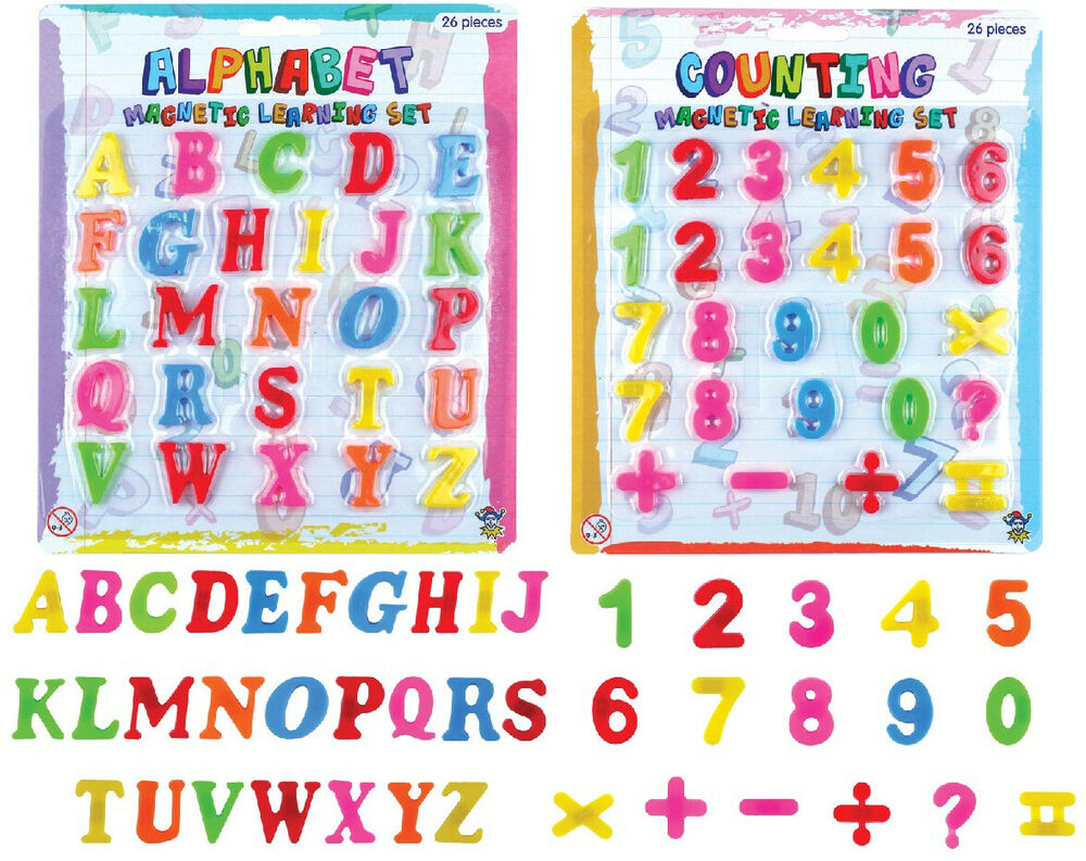 Magnetic letters and numbers fridge magnets large kids for Letter fridge magnets game