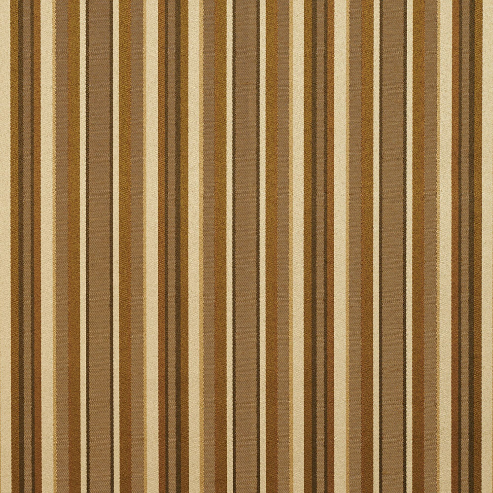 B0230a gold brown shiny thin striped silk look upholstery for Upholstery fabric by the yard