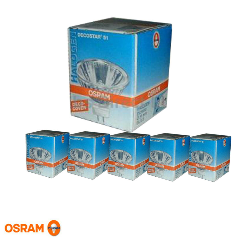 3x osram decostar 51 halogenlampe spot reflektor 12v 50w gu5 3 halogen lampe neu ebay. Black Bedroom Furniture Sets. Home Design Ideas