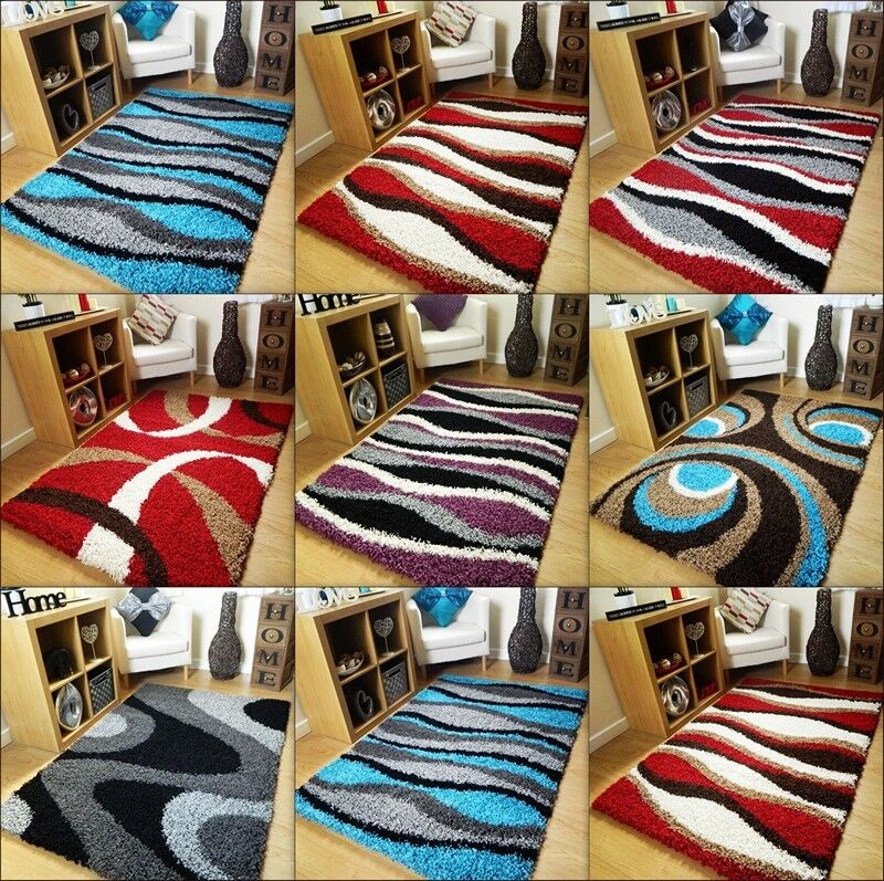 Black And White Extra Large Rug: SMALL EXTRA LARGE RUG NEW MODERN DESIGN SOFT THICK SHAGGY