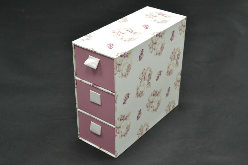 brand new sainsburys tu 3 narrow drawer pink white. Black Bedroom Furniture Sets. Home Design Ideas