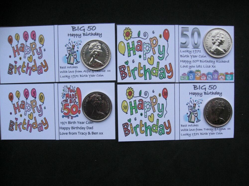 1967 sixpences for 50th golden wedding anniversary card or for Present for 50th wedding anniversary