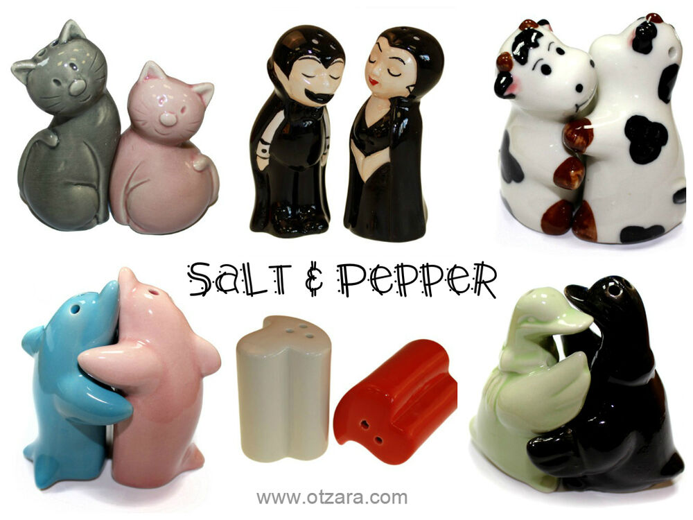 Hugging salt and pepper pots shakers ceramic novelty - Hugging salt and pepper shakers ...