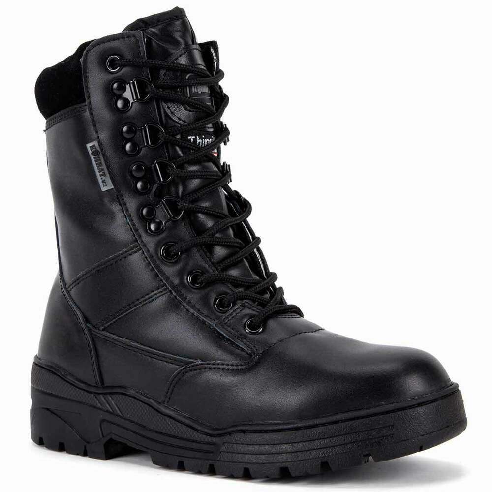 Black patent leather combat boots are most common type of dress boots. Like the General Issue combat boots, these black leather military boots offer a dignified look and are worn with the formal army .