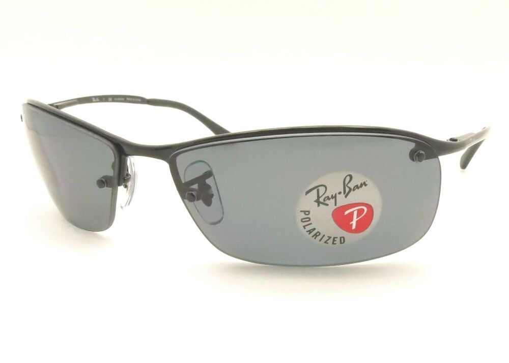 2cdf38b3822c9 Details about Ray Ban RB 3183 002 81 63mm Black Grey Polarized Sunglass New  Authentic