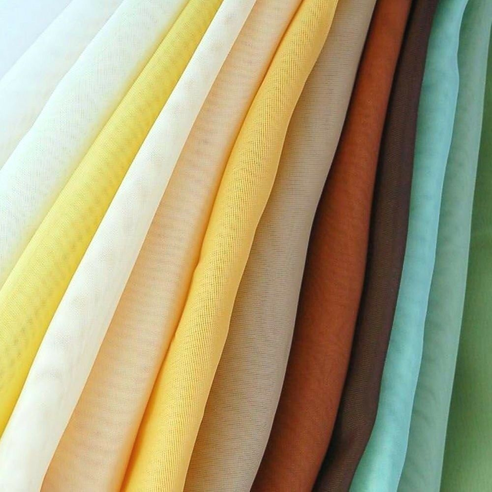 Sheer Voile Fabric 118 Wide Curtain Drapery And Apparel Per Yard 100 Polyester Ebay