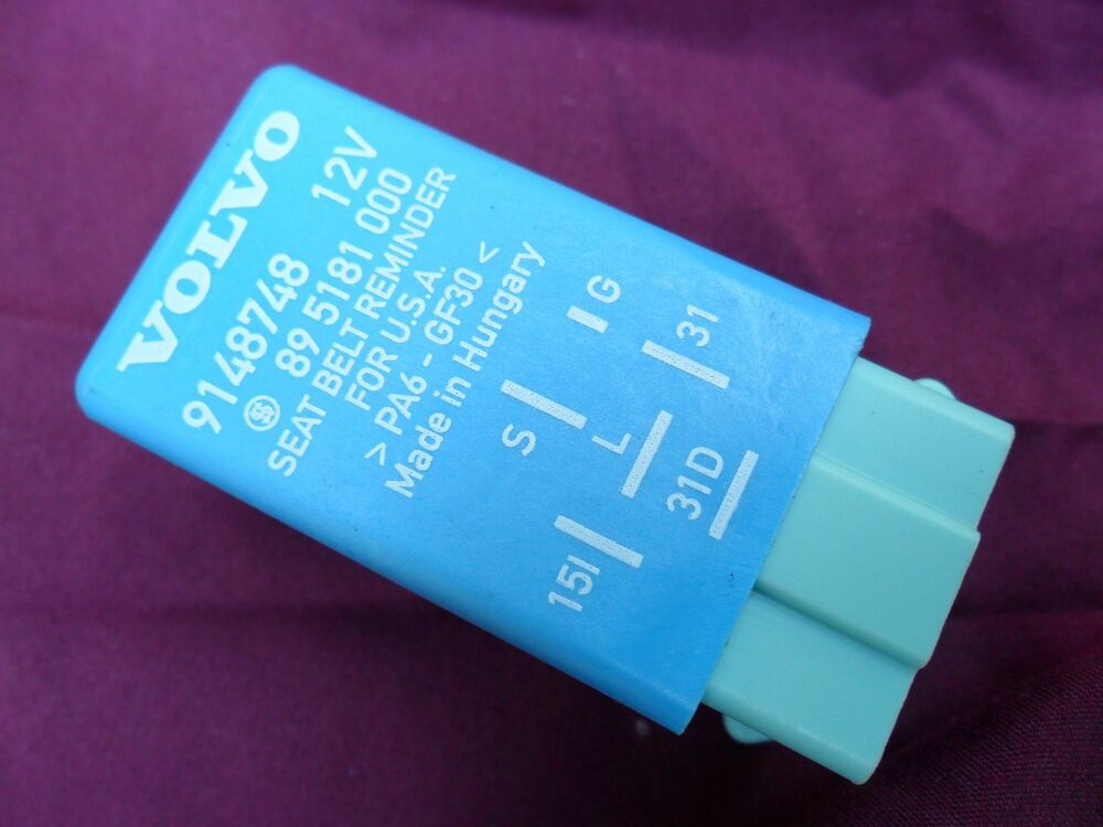 Volvo 30884038 Seat Belt Reminder Relay Module Chime Bell