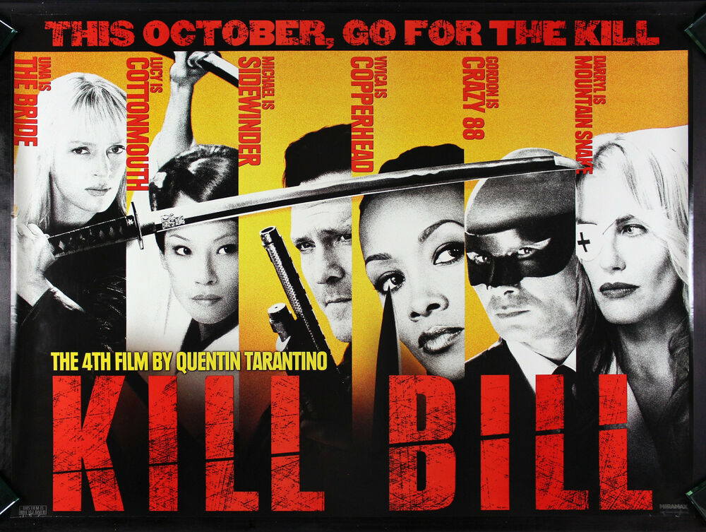 Movie Posters 2003: KILL BILL * CineMasterpieces ORIGINAL RARE SUBWAY MOVIE