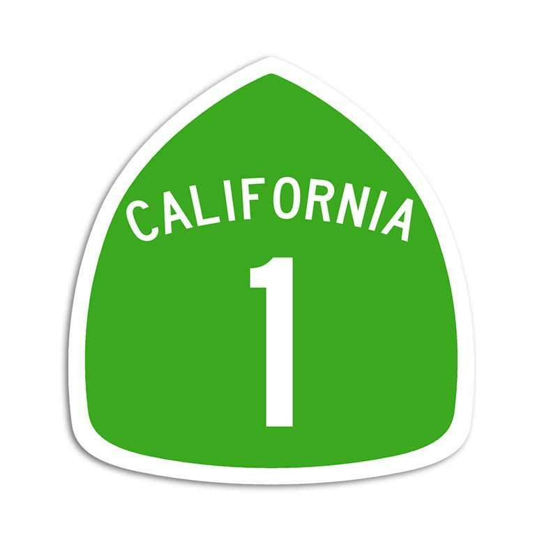 California 1 Road Sticker Pacific Coast Highway Sign