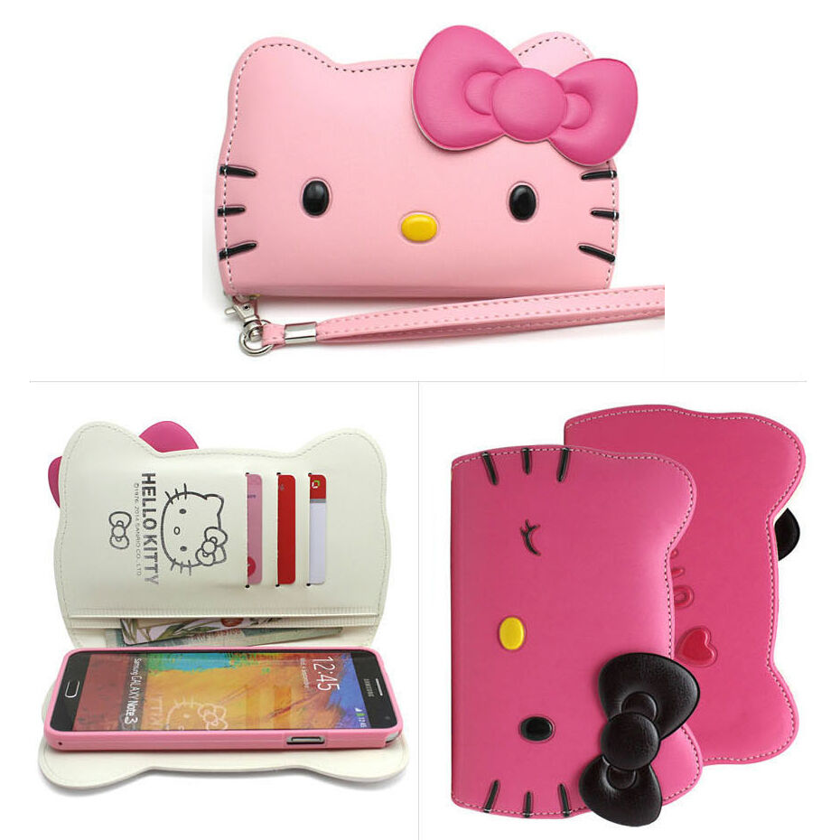 huge discount 12284 48c22 Hello Kitty Case iPhone 6/6s, 6/6s Plus Wallet Cover Clutch Authentic  3Colors | eBay